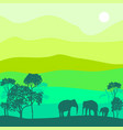 landscape with elephants vector image vector image