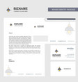 light business letterhead envelope and visiting vector image vector image
