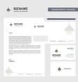Light business letterhead envelope and visiting