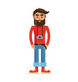 male character photographer isolated vector image