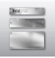 metal banners horizontal set realistic vector image