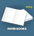 mock-ups of paper books-09 vector image vector image