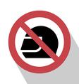 No Helmet Sign vector image vector image