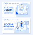 online doctor consultation medical landing page vector image vector image