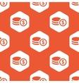Orange hexagon dollar rouleau pattern vector image vector image