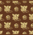 pattern of roses bouquets vector image