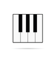 piano keys icon vector image