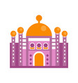 purple majestic palace building vector image vector image
