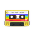 retro cassette vintage 1980s mix tape stereo vector image