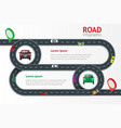 road infographic template with colorful pin vector image