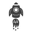rocket space travel print scandinavian style vector image vector image