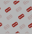 seamless pattern with razor blades image vector image