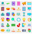 server icons set cartoon style vector image vector image