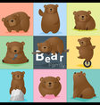 Set of Bear family vector image