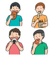 set of people eating vector image vector image