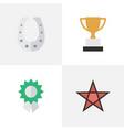 set of simple reward icons vector image vector image