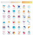 set trendy flat gradient summer time vector image vector image