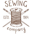 sewing company logo vector image