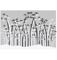 Silhouettes of bamboo vector image