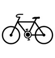 simple bicycle icon black lines bike drawing on vector image