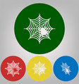 spider on web 4 white styles vector image vector image