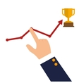 success growth wining icon design vector image