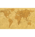 Textured world map vector image