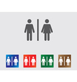Toilet icons vector image vector image
