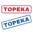 Topeka Rubber Stamps vector image vector image
