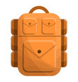 tourist backpack icon cartoon style vector image