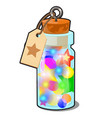 transparent glass bottle with multicolored vector image vector image