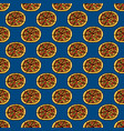Trendy pizza pattern with hand drawn pizza cute