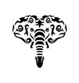 tribal elephant vector image vector image