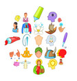 trouper icons set cartoon style vector image vector image