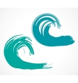 Two of wave vector image vector image