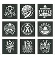 vintage barber logo retro style typography vector image vector image