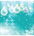 Winter holiday of christmas balls and fir tree vector image