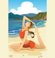 woman practicing yoga vector image