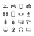 computer gadgets and handheld digital device vector image