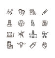 pregnancy and newborn child line icons vector image