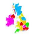 uk map vector image
