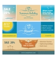 A set of banners for the travel and tourism resort vector image
