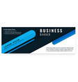 abstract black blue design business banner vector image vector image