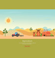 agriculture with organic products and farmhouse vector image vector image