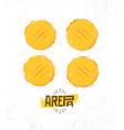 arepa home made gluten free crispy venezuelan vector image vector image