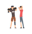 best male friends talking together guy vector image
