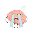 brain characters cry making sport exercises and vector image vector image