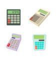 calculator icon set cartoon style vector image