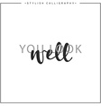 Calligraphy isolated on white background vector image vector image