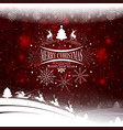 christmas design with a silhouette of christmas vector image vector image